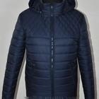 Синяя и черная Куртка мужская демисезонная весна-осень