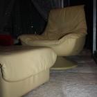 Кожаное кресло + пуфик!!! Спец.Предложение!!!!