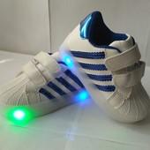Модные детские кроссовки с подсветкой бренда GFB, р. 26 - 15,3 см, код товара - 148