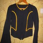 Костюм с расклешенными рукавами юбка+кофточка на молнии,  46-48р.синий