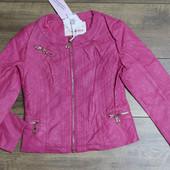 Куртка для девочек из кож-зама 110-134р.2015-031