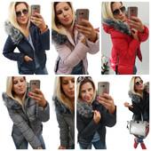 Женская короткая зимняя куртка