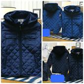 Весенняя стеганая куртка для мальчика три цвета на рост 98-152см