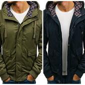 Мужская зимняя куртка парка короткая