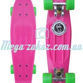 Скейтборд/скейт Penny Board (Пенни борд) Fish: Pink, до 80кг