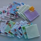 Носовички, детские платочки байковые и ситцевые 1лот  расцветок много разн