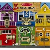 Развивающие дощечки с замочками от Мелисса и Даг (melissa & doug montessori deluxe board) оригинал