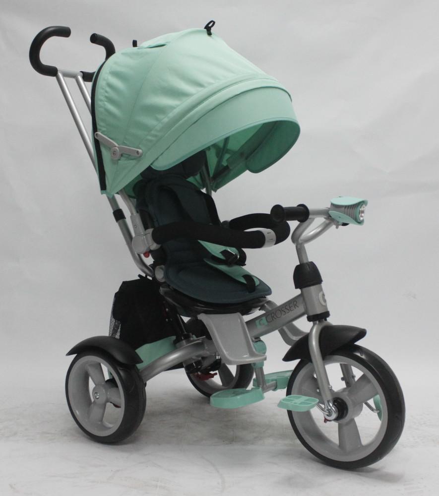 детский трехколесный велосипед сrosser т-503 eva Кроссер Т 503 ЕВА  колеса пена, поворотное сиденье фото №1
