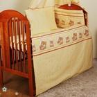 Детское постельное белье- Бортики, защита , охранка в детскую кроватку. Мишки в круге
