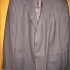 """Пиджак шерстяной,р.60-62,коричневый,в """"ёлочку""""."""
