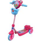 Скутер детский лицензионный - Пеппа (3-х колесный,звонок, корзина, пропеллер, тормоз)