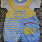 Комплект(футболка+песочник)для малыша 3мес б/у