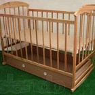Кроватка детская с шухлядкой ясень,ольха светлый и темный