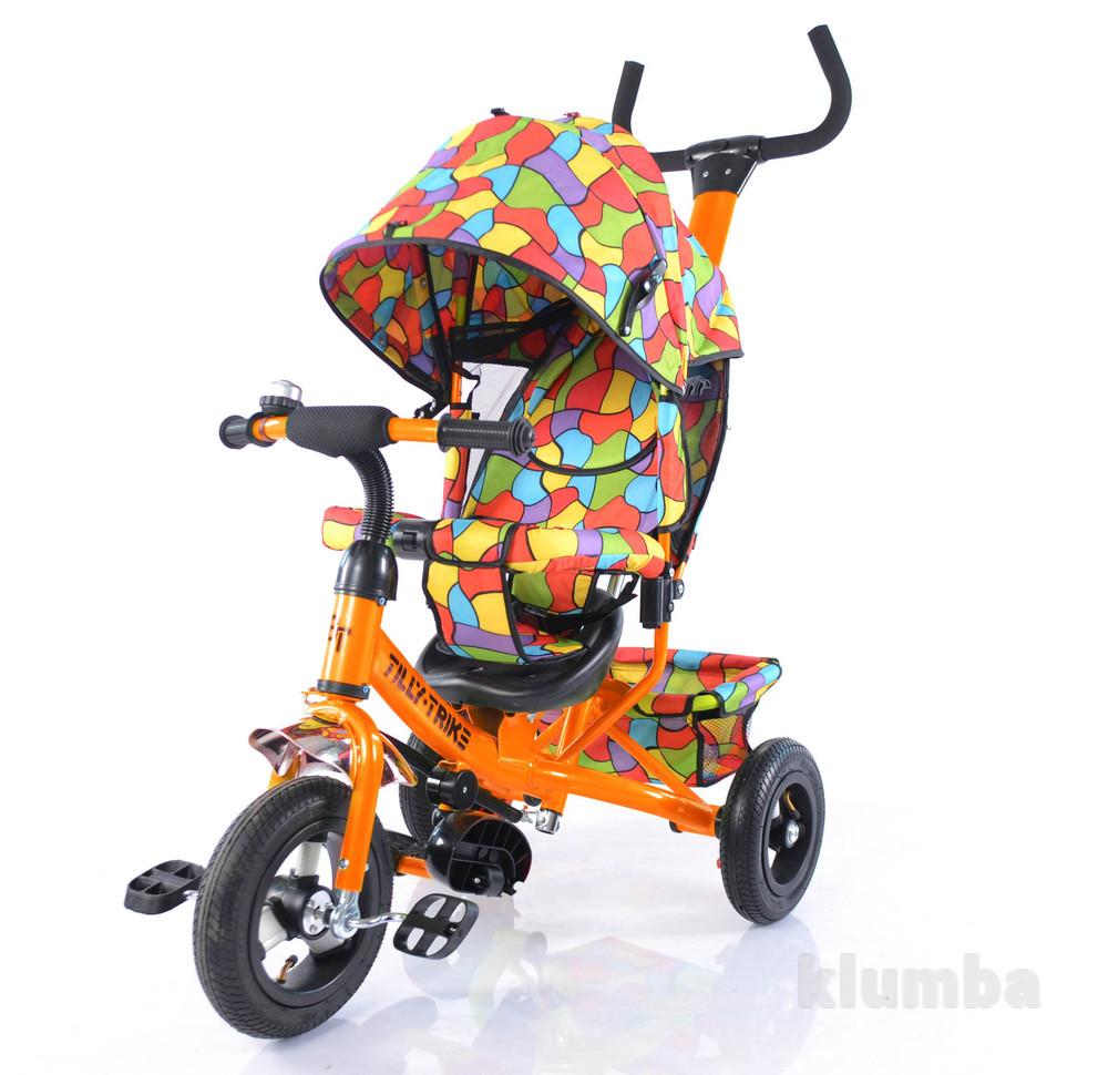 Тилли Трайк Мозаика T-351-1 детский трехколесный велосипед tilly trike надувные колеса фото №1