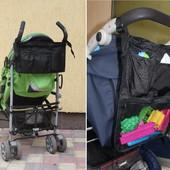 Раскладной органайзер, сумка на коляску 2 в 1, для коляски