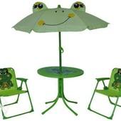 детский набор  столик+2стульчика+зонтик BT-TC-0003 Лягушата