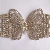 Украшение Бабочка пряжка брошь браслет 16,5 х 6 см