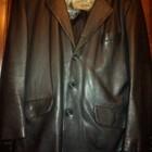 мужской кожаный пиджак Турция отличное состояние р-р 54