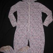 флисовая пижама слип на 170-175 рост