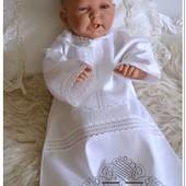 Крестильная рубашечка коллекция Святогорская