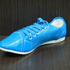 Женские полу-спортивные туфли голубые