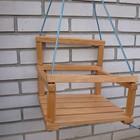 Качеля детская деревянная ольха