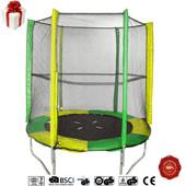 Батут детский Jump-2-Sky 140х36 см зеленый