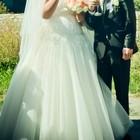 Продам шикарну весільну сукню великого розміру кольору айвори