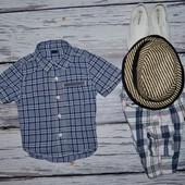 1 - 2 года 80 - 86 см Очень модная фирменная рубашка тенниска для мальчика Геп Gap