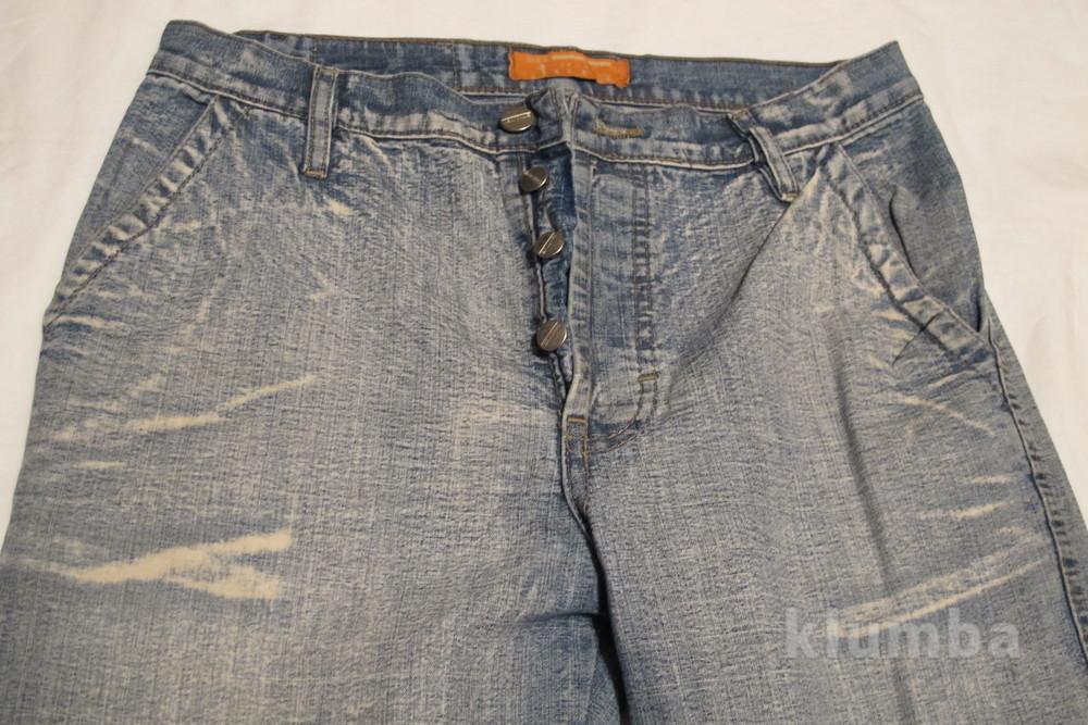 Голубые джинсы с выбеленностью new tius 30 р. фото №3