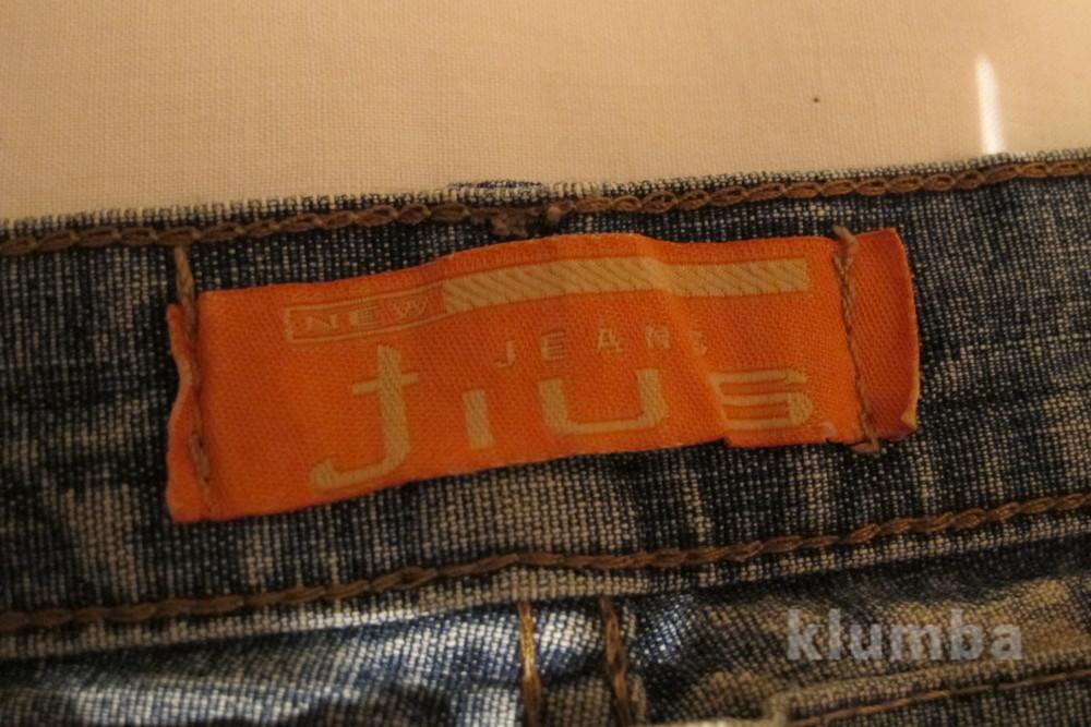Голубые джинсы с выбеленностью new tius 30 р. фото №5