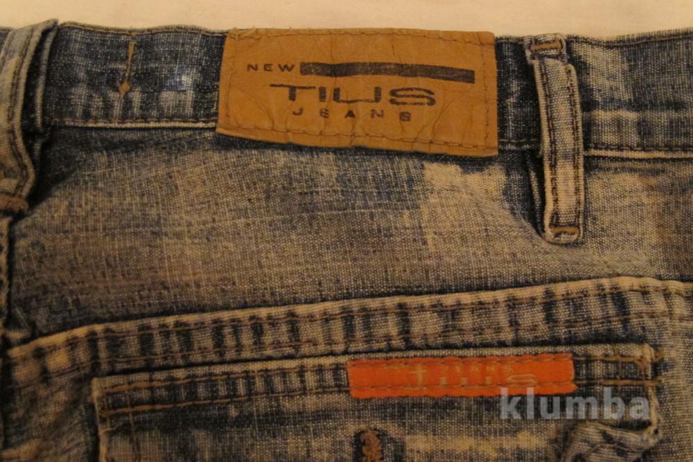 Голубые джинсы с выбеленностью new tius 30 р. фото №8