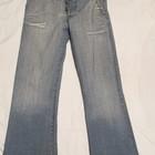 Голубые джинсы с выбеленностью New Tius 30 р.
