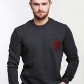 Мужской свитер темно-серый