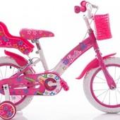 Акция Азимут Барби 18 двухколесный велосипед Azimut Barby для девочки с корзинкой