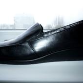 Туфли мокасины фирменные Footglove 39,5р Кожа