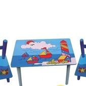 Детский столик и стульчики Кораблики