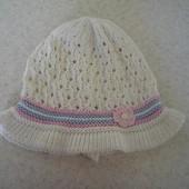 Летняя ажурная шапочка панамка