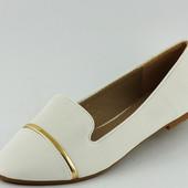 Туфли женские белые Т390 р.36,37,38