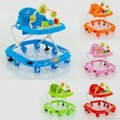 Ходунки Детские JOY 258 5 цветов, проигрывает 4 мелодии, d колес - 6.5 см