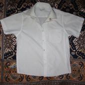 Белая рубашка без рукава Р. (116/122/128/135/146/152)