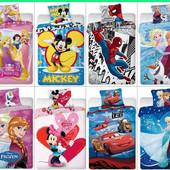 Детский постельный комплект с мультяшными героями