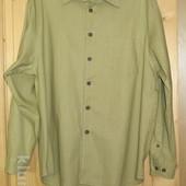 Толстая льняная рубашка оливкового цвета. Fundamentals. Голландия. 42/43