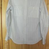 Оригинальная полосатая х/б рубашка Next. Англия. M.