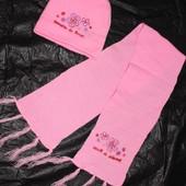 Шапка, шарф  на 3-4-5 років