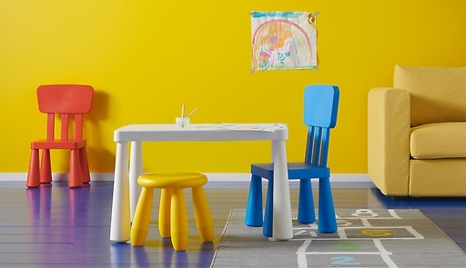 Яркий табурет детский, желтый, оранжевый, Mammut фото №1