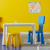 Яркий табурет детский, желтый, оранжевый, Mammut