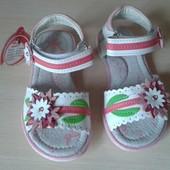 Кожа!Новые в наличии сандалики на девочку ,26-31 размеры