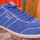 голубі шкіряні кросовки Diesel 43р 28см