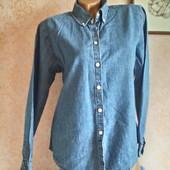 Тонкая джинсовая рубашка р.48 -50 ( М, 14, 42)